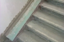 Ремонт лестницы :: 2) Выравнивание основания  универсальной шпатлёвкой  Remmers Multispachtel