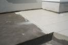 8) Укладка плитки на клей Flexkleber
